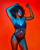 D'ammie (Calvin J.) Tags: model pocketwizard minitt1 5dmarkiii strobist canon sexy sensual portrait paulcbuff 85mm ef85mmf12lii silverumbrella bikini glamour lowkeylight powermc2 einstein640 gellights coloredgels gels orange blue
