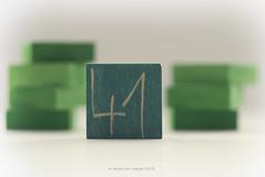 Numbers (eesquina) Tags: numbers 41 verde green fortyone madera wood proyecto project macro 52week 52semanas