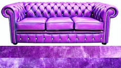 My New Two Meter Sofa (globaldenny) Tags: custommade glam hollywoodregency purple glamour sofa chesterfield crushedvelvet amethyst