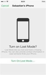 Turn on Lost Mode (TechGeeks) Tags: turn lost mode geek easier