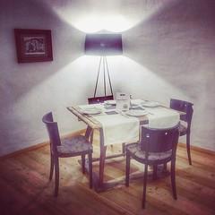 HOTEL HINDENBURG (VINCENT MOYASHI) Tags: table dinner breakfast hotel lamp chair evening light mood moment wall austria europe saalfelden