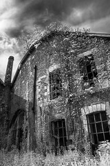 Lost abbey (axel.mathez) Tags: lost abbey bw blackandwhite noiretblanc urbex exploration abandonné temps passé brasserie ciel sky former abbaye infrarouge infrared