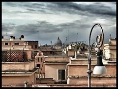 ROMA CITTA' ETERNA (dianasantucci) Tags: sanpietro papà vaticano cupola turist travel tetti impero cittàeterna orizzonti clouds sky arte metropoli city roma
