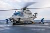 DYNAMIC MANTA 18 _ITA N NH-90 LANDS ON FS LANGUEDOC (NATO HQ MARCOM) Tags: dyma18 dynamicmanta18 marcom alliedmaritimecommand northatlantictreatyorganisation its nato carabiniere