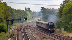 44932 Winchfield 5 August 2010 (1) (BaggieWeave) Tags: steamengine steamlocomotive steam steamtrain 44932 black5 blackfive hampshire winchfield cathedralsexpress 460