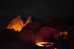 Ryan Campground at Night (orng.juce) Tags: ryancampground joshuatreenationalpark california desert longexposure campfire night camping starrynight
