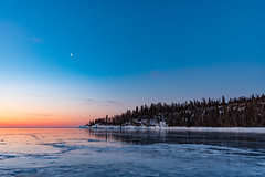 Horseshoe Bay Sunrise, Lake Superior North Shore, Minnesota (Tony Webster) Tags: horseshoebay hovland lakesuperior minnesota northshore ice lake snow trees winter eastcook unitedstates us