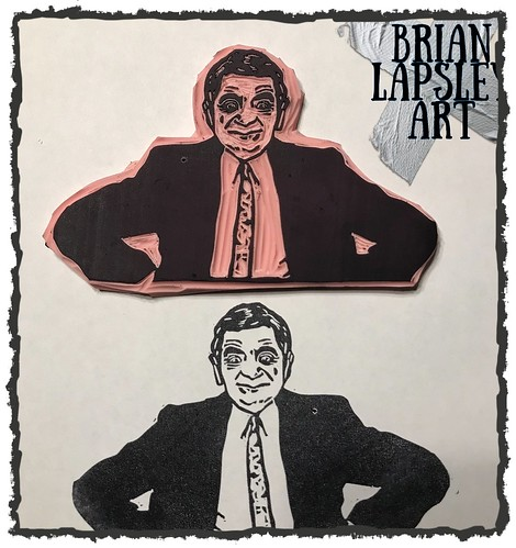Who doesn't want a Mr. Bean stamp?? #rubberstamp #handcarved #craft #create #diy #art