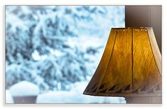 Last Winter Storm (Karen McQuilkin) Tags: lastwinterstorm window light lamp cozy indoors
