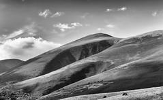 Skiddaw Massif (Paul K Martin) Tags: outdoors climbing walking bw monochrome mono landscape mountain fells cumbria northernlakes skiddaw uk keswick lakedistrict 1250sec f110 nikon18200mm nikond300s