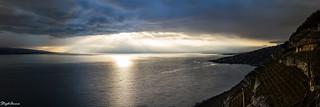 Lumière sur lac Leman