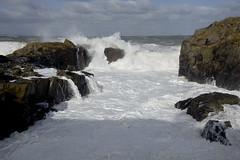 Rock Smashing (steve_whitmarsh) Tags: aberdeen scotland storm water sea ocean splash rocks waves