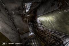Stairway of the Punisher (Blacklight Fotografie) Tags: lost lostplace decay abandoned verlassen verfallen hdr urbex treppenhaus geländer punisher