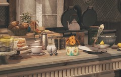 Tea and Cake and Because Callie Said So (Kess Crystal @ The Glamour Sauce) Tags: sl secondlife slhomes sldecor homes decor virtual vr virtualreality virtualhomes virtualdecor nutmeg applefall dustbunny fancydecor fameshed tresblah soy 8f8 photo blogger blog bvn calliehamelin