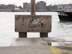 DAD , THERE´S A MONSTER ! (K.Schw.) Tags: gx7 panasonic italien venedig venezia veneto it ship venice cruiseship water graffiti art banksy italy