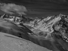 Ski Mountaineering (doc-harvey) Tags: skiing ski skinning skialpinism skitour skitouren docharvey hwschlaefer suedtirol alto adige mountains alps alpes alpe canon g10 bw blackandwhite blancetnoir digital passeier tal passiria clouds sky