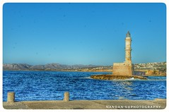 Lighthouse - Chania Town, Greek Islands (Crete) (NNJHA1971) Tags: chania chaniatown greece greekislands sea bluesea bluesky blue lighthouse