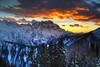 Alpine Sunset (hapulcu) Tags: montelussari alpen alpes alpi alps friuli giulia italia italie italien italy julian tarvisio hiver invierno winter sunset