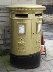 Double Pillar Box, The Shambles, Bradford on Avon, Wiltshire 13 March 2018 (Cold War Warrior) Tags: gpo elizabethii postoffice royalmail edmckeever 2012olympics kayak wiltshire bradfordonavon