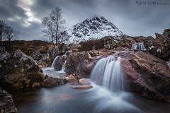 Classic Etive (Pureo) Tags: buachailleetivemòr glencoe scotland scottishhighlands mountains amateur riveretive water flow waterfall light clouds rocks pool flowing moody canon canon6d leefilters