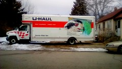 Moving day - HTT 365/134 (Maenette1) Tags: uhaul truck movingday neighborhood menominee uppermichigan happytruckthursday flicker365 michiganfavorites project365