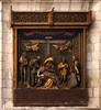 Saint Omer, Nord-Pas-de-Calais, Cathédrale Notre-Dame, south aisle, monument funéraire de Jean Coquillau †1455 (groenling) Tags: saintomer pasdecalais nordpasdecalais france fr cathédrale notredame monument stone carving stonecarving pierrecalcaire aisle jean coquillau coquillon milcccclv ajour openwork pieta viergedepitié saint sebastian sébastien nude naked man rope shirtless john jehan baptist baptiste lamb agneau donor donateur bishop évêque miter mitre angel ange inri cross croix