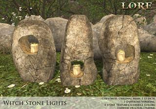 {LORE} Witch Stone Lights