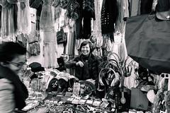 Market (Miguel.Galvão) Tags: china shop market madrid spain espanha españa black white monochrome people lady mundane ordinary galvão miguel smile pedro pires happy kindness