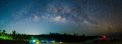 Stitched Panorama (ranierkeaneabad) Tags: milkyway lakibeach sonyphotography a6000 nightphotography stars longexposure