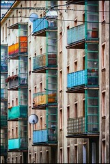 Balconia (TheOtherPerspective78) Tags: balcony balconies city cityscape vienna drab tristesse colors colorful citylife lifestyle building architecture architektur wien balkon view individual living decoration stadtleben stadt theotherperspective78 canon eosm6