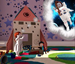 where ever imagination takes us (play'n dressup) Tags: td tdblog toddleedoo toddleeedooblogger toddleedooblog slblog slfashion kidfashion kidcrate slfamily tdcute cute rocket space astronaut imagination playtime play bellybean} {afa} roost toys littkellama boogerz ar dream future