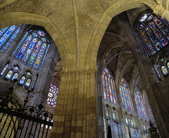Catedral de Leon / Leon Cathedral (López Pablo) Tags: cachedral church religion panorama stained glass wayofsaintjames leon spain nikon d7200
