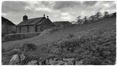St James' Church, Buttermere (mandysp8) Tags: church bw blackandwhite monochrome cross trees countryside honister newlandspasses cumbria lakedistrict
