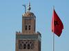 The symbol of Marrakech (Shahrazad26) Tags: koutoubia marokko morocco maroc marrakech moroccanflag marokkaansevlag drapeaumarocain marokkanischeflagge minaret