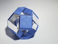 Cantellated cuboctahedron (ISO_rigami) Tags: modular origami 3d a4 cuboctahedron polyhedron cube eckhardhennig sidrco cantellated paper sid