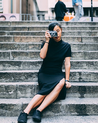 Saturday noon with friends in classic dressing. (michael_fotoncoffee) Tags: 5dmarkiv canon 50mm tokina 1120 central instagrampier hongkong discoverhk portrait 80d sheungwan