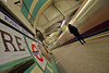 Lei è come il vento / She is like the wind (Russell Square Underground Station, London, United Kingdom) (AndreaPucci) Tags: london uk underground station train russell square piccadilly line andreapucci
