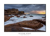 Potter Point sunrise with rock flows and sea cliffs (sugarbellaleah) Tags: cliffs rocks weather ocean sunrise potterpoint seascape flowing water eroded kurnell clouds sunlight moody morning scenery scenic dangerous place turbulent geology australia coast coastal landscape amazing