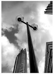 london sky (spencerrushton) Tags: spencerrushton spencer rushton canon5dmkiii 5dmk3 5dmkiii 24105mm canon24105mmlf4 canonlens canon canonl beautiful blackandwhite black bw walk white monochrome london londonuk lightroom londoncity londonphotowalk barbicancenter barbican clouds sky raw architecture building