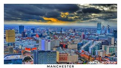 Manchester On A Saturday Morning. (DaveMo2017) Tags: manchester cityscape city skyline urban tower beethamtower thehilton colour sky clouds sunrise architecture building construction rain road train clock skyscraper sunset sun drama town owenstreettowers bluehour township deansgate unitedkingdom england northwest north hdr dramatic moody grim powerful samsung theperfectphotographer photographer ukphotographers photosofengland photosofcities lancashire themagiceye suburban greatermanchester bestphoto cars bus buses trees rooftops grimupnorth arndale ukarchitecture greatbritain