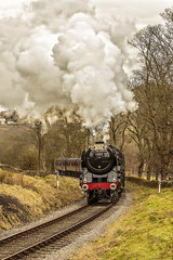 KWVR 2018_03_11_135 (Phil_the_photter) Tags: steam steamengine steamloco steamrailway steamgala kwvr keighley 70013 olivercromwell black5 blackfive 44871 oakworth coaltank 1054 7f 53808 oxenhope