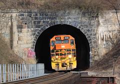Ellwood City Tunnel (GLC 392) Tags: btnc buffalo pittsburgh pa pennsylvania new castle emd sd45 gp40 458 bprr 302 allegheny railroad railway train tree aly sd452 ellwood tunnel bridge city