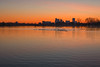 Denver Skyline (mclcbooks) Tags: sunrise dawn daybreak morning light sloanslake denver colorado reflections skyline trees silhouettes geese landscape