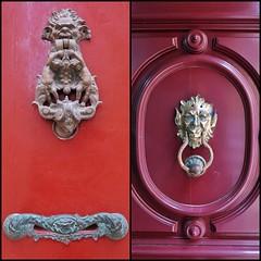 Maltese Knockers (Douguerreotype) Tags: city malta architecture red urban door