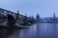 Prague Pillers (JH Images.co.uk) Tags: prague charles bridge charlesbridge water morning blue hour reflection architecture hdr dri