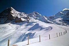 High up to the mountains (sylviafurrer) Tags: berge mountain schnee snow winter hiking wandern bernesealps berneroberland eigermönchundjungfrau