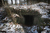 Deckungsgraben MunA Espelkamp (WW2 Air Raid Shelter) (SurfacePics) Tags: espelkamp landkreismindenlübbecke nrw nordrheinwestfalen deutschland germany europe europa ww2 worldwar2 zweiterweltkrieg relict bunker shelter airraidshelter deckungsgraben munitionsanstalt muna drittesreich surfacepics cam märz march 2018 sonyalpha77ii sonyalpha photo foto relikte historical outdoor schnee snow ziegel brick wald forest