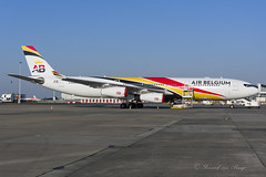 AB_A340-300_OOABA_BRU_MAR2018 (Yannick VP) Tags: civil commercial passenger pax transport aircraft airplane aeroplane jet jetliner airliner ab airbelgium airbus a340 340300 ooaba brussels airport bru ebbr march 2018 airside static belgium be bel europe eu