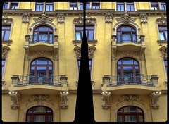 Zwickauer, Ecke Humboldt Strasse 3-D / CrossView / Stereoscopy / HDR / Raw (Stereotron) Tags: saxony sachsen vogtland reichenbach neuberinstadt architecture artnouveau jugendstil belleepoque facade fassade europe germany deutschland crosseye crosseyed crossview xview cross eye pair freeview sidebyside sbs kreuzblick 3d 3dphoto 3dstereo 3rddimension spatial stereo stereo3d stereophoto stereophotography stereoscopic stereoscopy stereotron threedimensional stereoview stereophotomaker stereophotograph 3dpicture 3dglasses 3dimage hyperstereo canon eos 550d kitlens 1855mm tonemapping hdr hdri raw