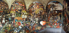 Mural of the history of Mexico by the famous muralist Diego Rivera in Mexico City (albatz) Tags: mural painting history mexico famous muralist diegorivera mexicocity
